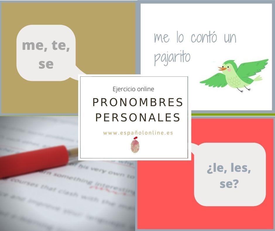 Übung online: Pronombres personales. me, te, se, le…